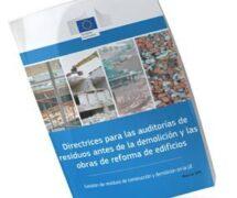 Directrices para las auditorías de residuos antes de la demolición y las obras de reforma de edificios