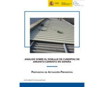 Análisis sobre el doblaje de cubiertas de amianto-cemento en España: propuestas de actuación preventiva de INSST