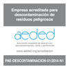 AEDED Sello Descontaminacion Corte